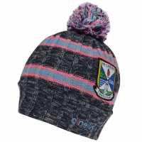 Oneills Cavan Bobble Hat Junior Girls MMarine/FP/Sblu Шапки с козирка