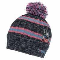 Oneills Cork Bobble Hat Junior Girls MMarine/FP/Sblu Шапки с козирка