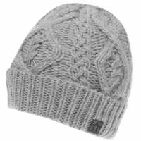 Crafted Essentials Cable Hat Junior Boys Grey Cable Шапки с козирка