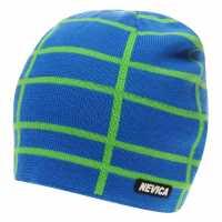 Nevica Мъжка Плетена Шапка Vail Mens Beanie Hat Blue/Lime Шапки с козирка