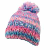 Spyder Twisty Hat Junior Girls Pink/Green Шапки с козирка