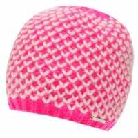 Nevica Kaprun Beanie Hat Ladies Fluo Pink/White Шапки с козирка