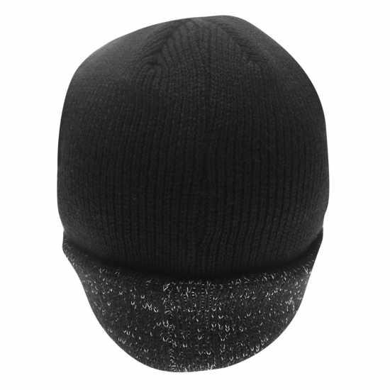 Gelert Мъжка Шапка Reflective Yarn Hat Mens Black - Шапки с козирка