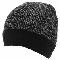 Gelert Мъжка Шапка Twist Yarn Hat Mens Black Шапки с козирка
