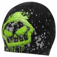 No Fear Beanie Hat Junior Boys Black/Green/Gry Шапки с козирка
