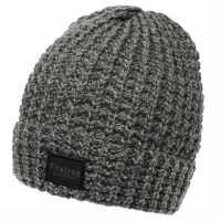 Firetrap Bllackseal Two Cable Hat Grey Marl/Charc Шапки с козирка