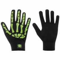 No Fear Print Gloves Junior Boys Bones Ръкавици шапки и шалове