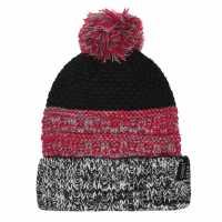 Gelert Knitted Pompom Hat Junior Girls Navy/Pink Шапки с козирка