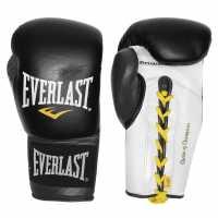 Everlast Мъжки Ръкавици Lock Boxing Gloves Mens Black/Grey Боксови ръкавици