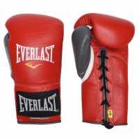 Everlast Мъжки Ръкавици Lock Boxing Gloves Mens Red/Grey Боксови ръкавици