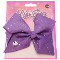 Miso Mimi Bow Junior Girls Purple Diamnate Аксесоари за коса