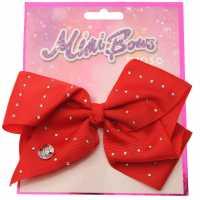 Miso Mimi Bow Junior Girls Red Diamante Аксесоари за коса