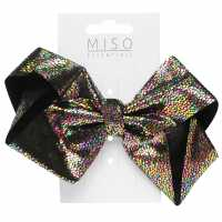 Miso Iridescent Junior Girls Bow Black Аксесоари за коса