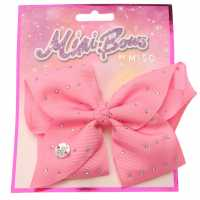 Miso Mimi Hair Bow Junior Girls Pink Diamante Аксесоари за коса