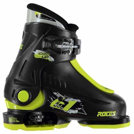 Roces Idea Up Junior Girls Ski Boots Black/Lime Ски обувки