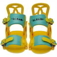 Salomon Goodtime Snowboard Bindings Junior Boys Yellow Ски аксесоари
