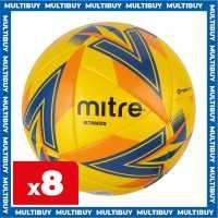 Mitre 8 X Mitre Ultimatch Yellow Footballs  Футболни топки