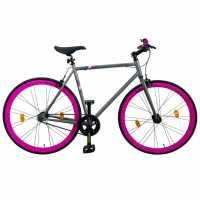 Muddyfox Fixie Race Bike Grey/Pink Шосейни и градски велосипеди