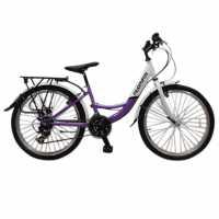 Muddyfox Voyager24 Girls White/Purple Шосейни и градски велосипеди