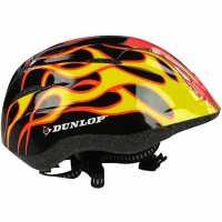 Dunlop Kids Cycling Helmet Red/Yellow Каски за колоездачи