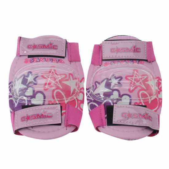 Cosmic Детска Велокаска И Протектори Bike Helmet And Pad Set Childrens Pink Каски за колоездачи