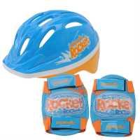 Cosmic Детска Велокаска И Протектори Bike Helmet And Pad Set Childrens Red/Black Каски за колоездачи