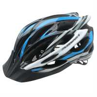 Muddyfox Lithium Helmet Adults Black/Blu/Whit Каски за колоездачи