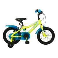 Muddyfox Icon 14 Inch Bike Boys Lime Детски велосипеди