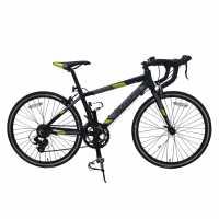 Muddyfox Race24 Kids Road Bike Black/Lime Шосейни и градски велосипеди