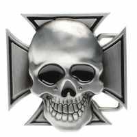 Jilted Generation Belt Buckle Cross/Skull Колани