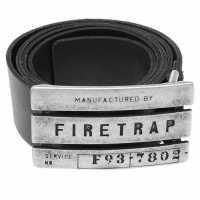 Firetrap Мъжки Колан Gate Belt Mens Black Колани