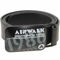 Airwalk Обикновен Мъжки Колан Airwalk Plain Belt Mens Black Колани