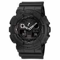 G Shock 100 1A1Er Watch Black Часовници