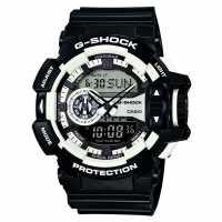 Casio Ръчен Часовник С Хронограф Mens G Shock Alarm Chronograph Watch Black/White Часовници