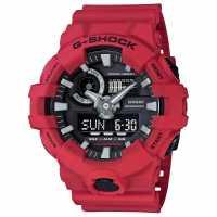 Casio Ръчен Часовник С Хронограф Mens G Shock Alarm Chronograph Watch Red Часовници