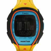 Timex Мъжки Часовник Sleek 150 Watch Mens Yellow Часовници