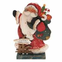 The Spirit Of Christmas Wooden Led Santa - Коледна украса