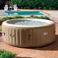 Mega Value Store Intex Purespa Bubble Round 6 Person Beige Подаръци и играчки