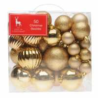 The Spirit Of Christmas 50 Pack Of Baubles Gold Коледна украса