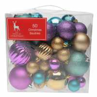 The Spirit Of Christmas 50 Pack Of Baubles Teal Коледна украса