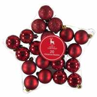 The Spirit Of Christmas 20 Pack Baubles Red Коледна украса