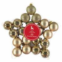 The Spirit Of Christmas 20 Pack Baubles Gold Коледна украса