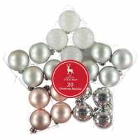 The Spirit Of Christmas 20 Pack Baubles Silver Коледна украса