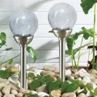 Mega Value Store Garden Essentials Solar Glass Lights 11cm Домашни стоки