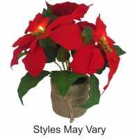 The Spirit Of Christmas Prelit Xmas Flower74 - Коледна украса