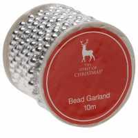 The Spirit Of Christmas Bead Garland Silver Коледна украса