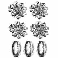 The Spirit Of Christmas 7 Piece Wrapping Decorations Silver Коледна украса