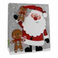 The Spirit Of Christmas Santa Snowman Medium Bag - Подаръци и играчки