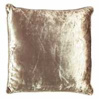 Mega Value Store Linens And Lace Crushed Velvet Cushion Champagne Домашни стоки
