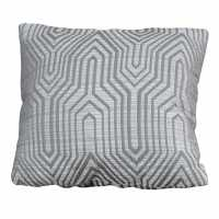 Linens And Lace Geo Jacq Cushion 92 Grey Домашни стоки